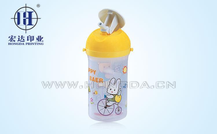 兔子儿童水壶热转印效果图