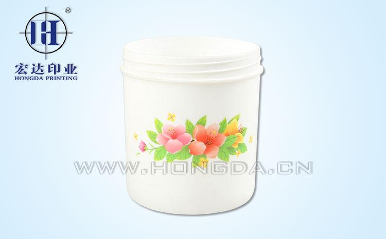 水仙花罐子热转印效果图
