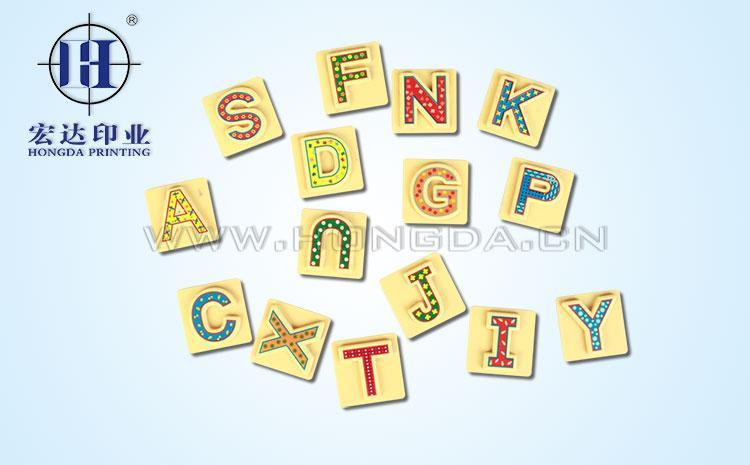字母拼图热转印效果图