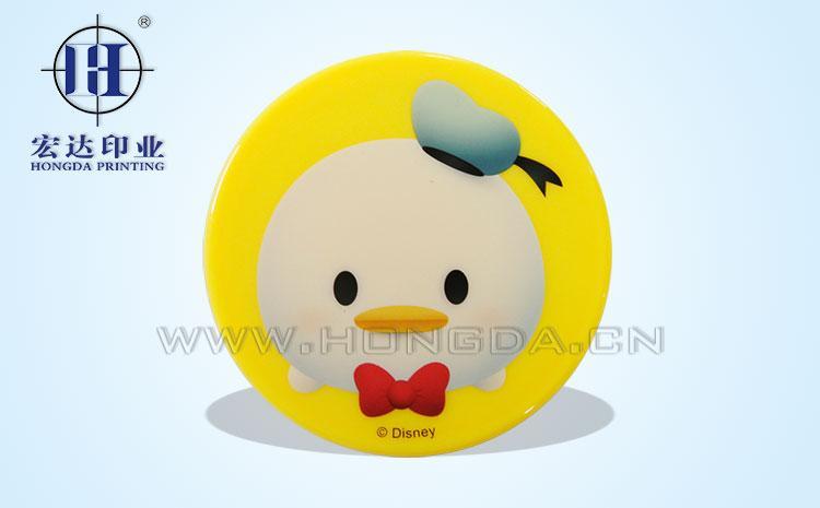 可爱小鸭镜子热转印效果图