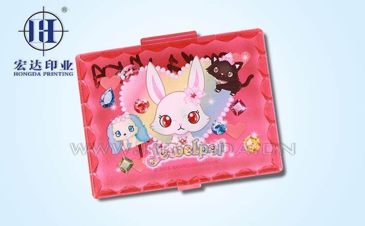 粉红兔子镜盖热转印效果图