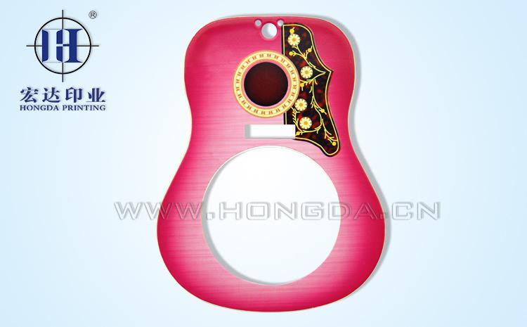 红色吉他热转印效果图