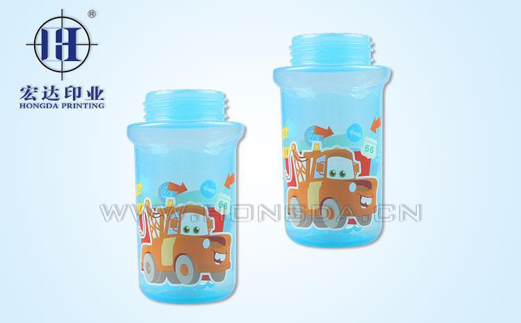 塑料奶瓶热转印大图