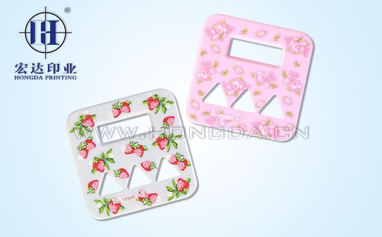 草莓图案配件热转印效果图