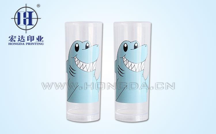 卡通鲨鱼杯热转印效果图