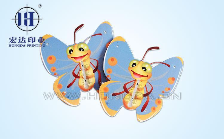 两只蝴蝶玩具配件热转印效果图