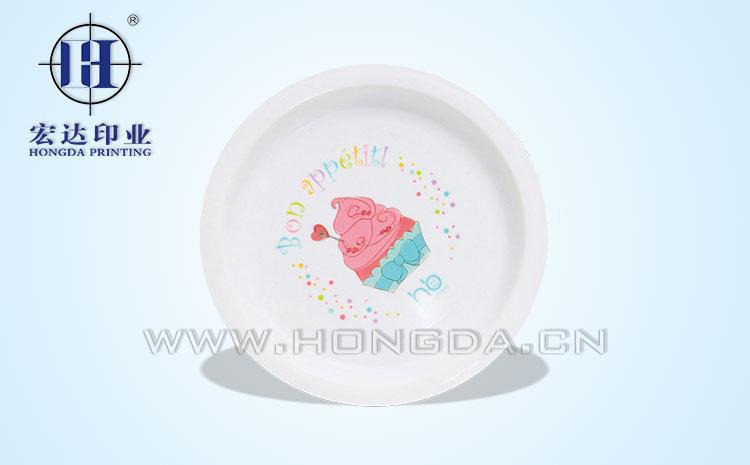 蛋糕盘子模内贴效果图