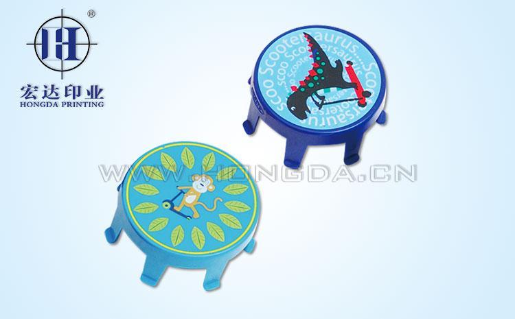 动物图案儿童凳热转印效果图