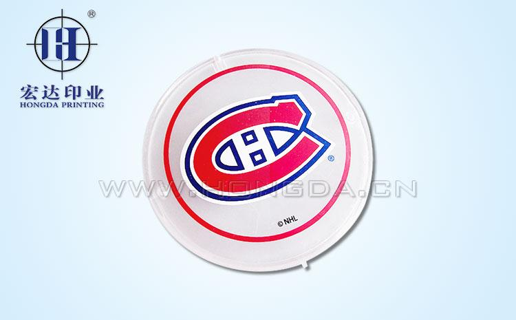 NHL图案杯盖热转印效果图
