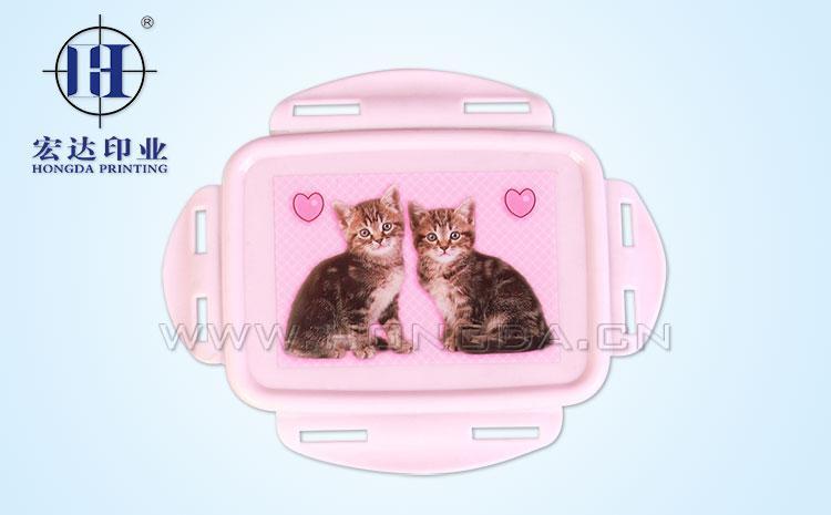 温馨猫咪饭盒盖热转印效果图