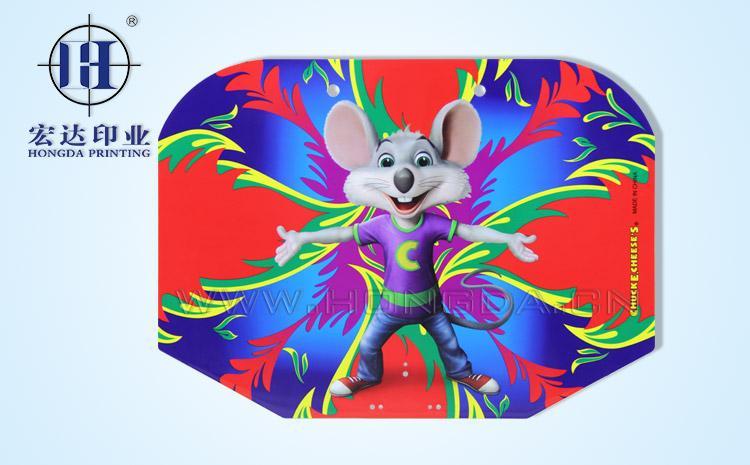 老鼠图案篮球板热转印效果图