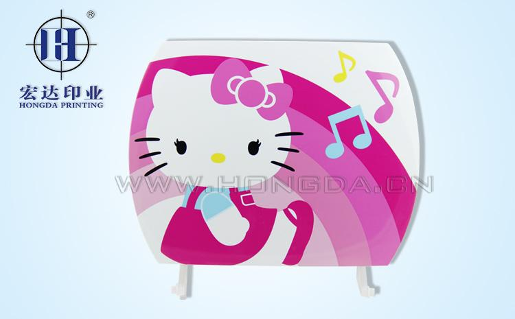 kt猫CD机盖热转印效果图